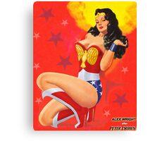 Wonder Woman Pin-Up 01 Canvas Print