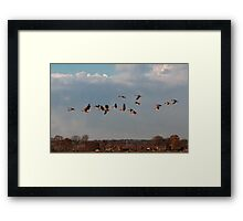 Under is green field Framed Print