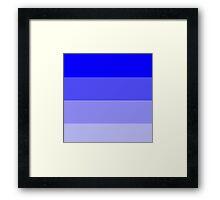 Dark Blue Ombre Coloured Framed Print