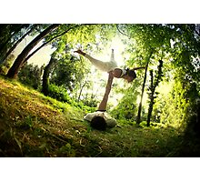 AcroYoga in the forest Photographic Print