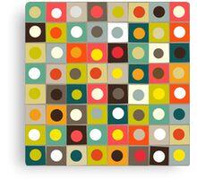 retro boxed dots Canvas Print
