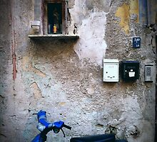 Moped in Palermo Laneway by Brickski