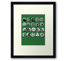 World Cup Footballs Framed Print