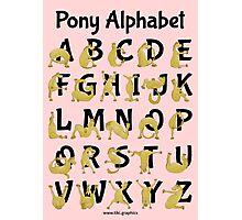 Pony Alphabet, Pink Photographic Print