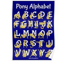 Pony Alphabet, Blue Poster