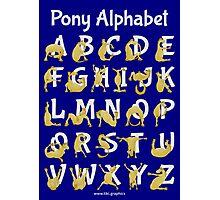 Pony Alphabet, Blue Photographic Print