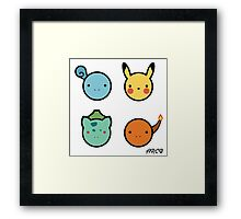 Cute Starter Pokemon Framed Print
