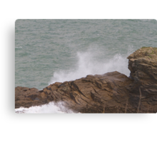 Rough sea in Port Isaac Canvas Print
