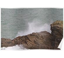 Rough sea in Port Isaac Poster