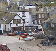 Port Isaac harbour slipway by Keith Larby