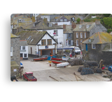 Port Isaac harbour slipway Canvas Print