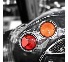 Some Color Included - Spyker C8 Tail Light Photographic Print