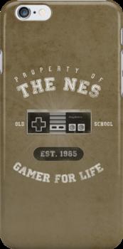Property of the NES - Athletic Style Shirt - Light by thehookshot
