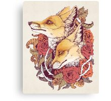Red Fox Bloom Canvas Print