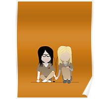 I Heart You - Alex and Piper Stylized Print Poster