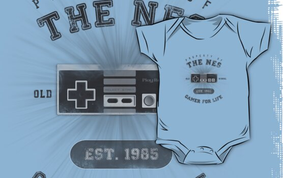 Property of the NES - Athletic Style Shirt - Dark by thehookshot