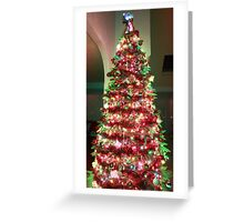 Christmas Tree dressed in green  Greeting Card