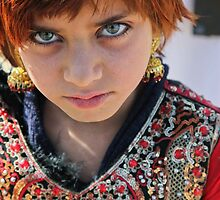 Refugee girl by David R. Anderson