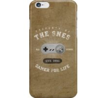 Property of the SNES - Athletic Style Shirt: Light iPhone Case/Skin
