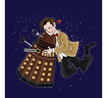 Cute Doctor And Dalek Photographic Print