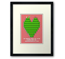 In Games and in Love Framed Print