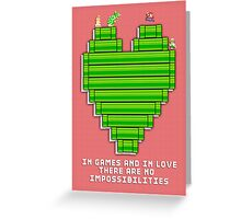 In Games and in Love Greeting Card