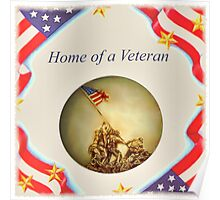 """Home of a Veteran"" Poster"