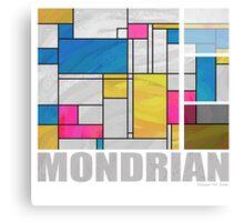 Mondrian Yellow Pink Blue  Canvas Print