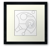Custom Name in Circular Gallifreyan from Doctor Who (Please message me your name before ordering!)  Framed Print