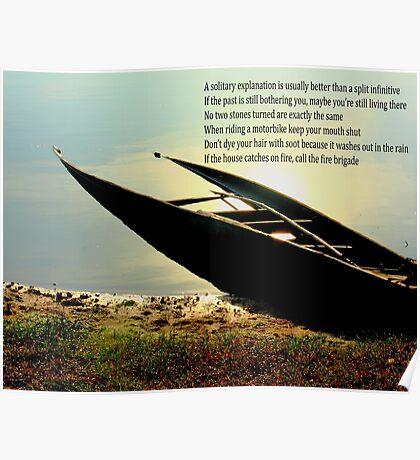 sunk boat Poster