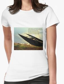 sunk boat Womens Fitted T-Shirt