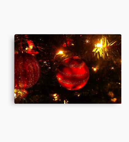 Red ball ornament Canvas Print
