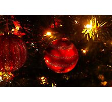 Red ball ornament Photographic Print