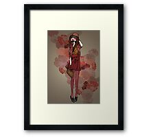 Jolie Rouge Framed Print