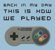 Back In My Day - SNES Controller (Reversed) T-Shirt