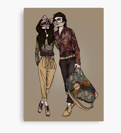 Dollhouse Couple Canvas Print
