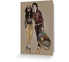 Dollhouse Couple Greeting Card