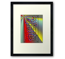 A Puzzle the path of life Framed Print
