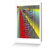 A Puzzle the path of life Greeting Card