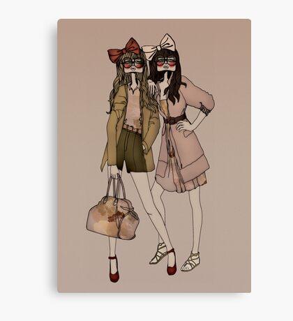 Lola & MIlu Canvas Print