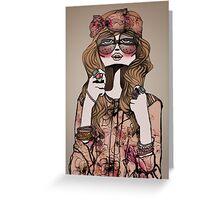 Hippie Chic Greeting Card