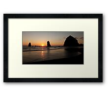 Panoramic Beach ~ Part Two Framed Print