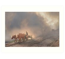 Waggon and Oxes Art Print