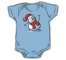 Snowman Waving Hello One Piece - Short Sleeve