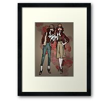 Women at work Framed Print