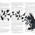Vintage Style Print with Poem Text Edgar Alan Poe: Edgar Alan Crow by SFDesignstudio