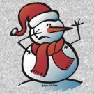 Worried Snowman by Zoo-co