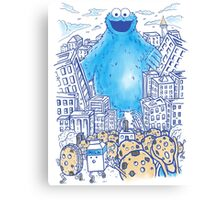 Moster In The City Canvas Print