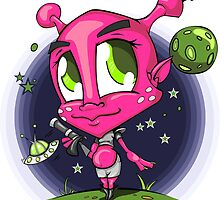 Mc Lady the Alien Invader Pink by eaRaccoon
