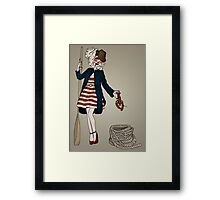 Nautical vintage Framed Print